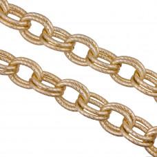 Łańcuch aluminiowy podwójny złoty nacinany 21x16mm