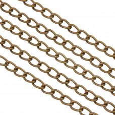 Łańcuch aluminiowy simple podłużny brąz 11x7mm