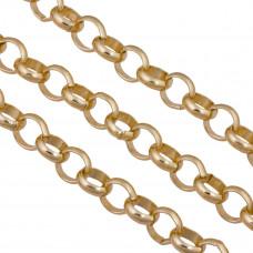 Łańcuch aluminiowy rollo złoty 13mm