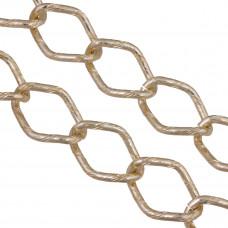 Łańcuch aluminiowy romb nacinany złoty 30x22mm