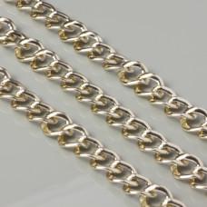 Łańcuch aluminiowy romb zaokrąglony złoty 17x15mm