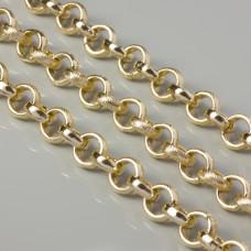 Łańcuch aluminiowy rolo zdobiony złoty 14mm