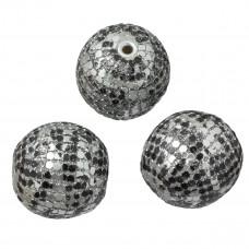 Kulka w kropeczki czarno-białe 33mm