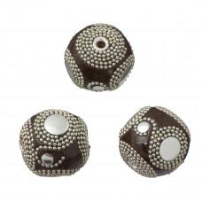 Kulka brązowa z łańcuszkiem 28mm