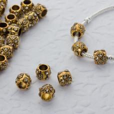 Koralik serduszka z kryształkami 5mm