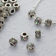 Koralik z kryształkami róża crystal AB 5mm