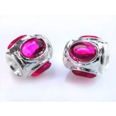 Przekładka z kryształkami różowymi 11mm