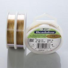Beadalon linka powlekana 0.38mm gold color