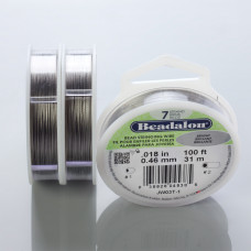 Beadalon linka powlekana 31m 0.46mm grey color