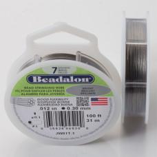 Linka stalowa Beadalon siedmiostrunowa 31m 0.3mm szara