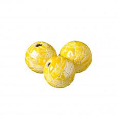 Kulka ceramiczna spękana żółta 34mm