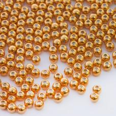 Zapięcie stoper z silikonem do cienkich sznureczków kulka złoty 4mm