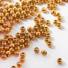 Stopper z silikonem do cienkich sznureczków kulka w kolorze złotym 4mm
