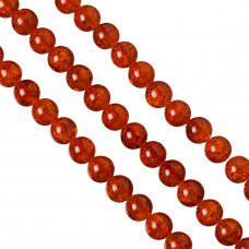 Kulki crackle czerwona magma 14mm