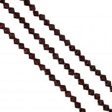 Bicone crackle brązowe 8mm