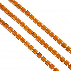 Kostki crackle pomarańczowe 8mm