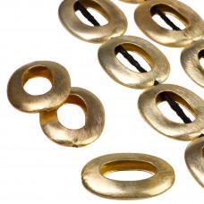 Owale wycięte satynowe kolor złoty 35x25mm