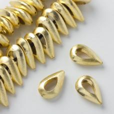 Koralik łezka wycięta golden color 23x14,5mm