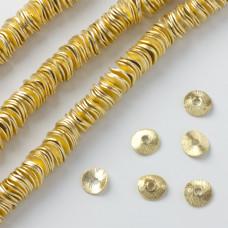 Blaszki wygięte satynowe gold color 8mm
