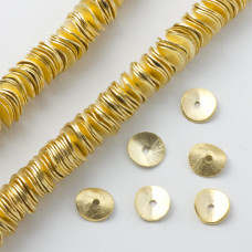Blaszki wygięte satynowe gold color 10mm