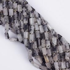 Kryształ górski z czarnym turmalinem słupek ciosany 7x11mm