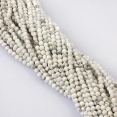 Howlit biały kulka matowa 4.5mm