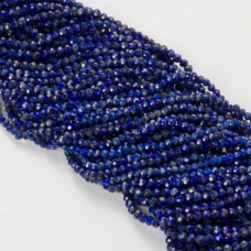 Lapis lazuli oponka fasetowana 3.5mmx3mm niebieski