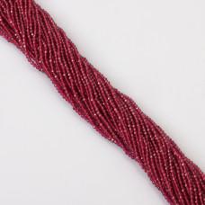 Rubin syntetyczny kulka fasetowana 2mm