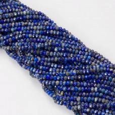 Lapis lazuli oponka fasetowana 4x3mm