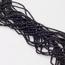 Czarny spinel oponka fasetowana 2x1,5mm