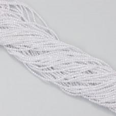 Cyrkonia kulka fasetowana biała 2.2mm