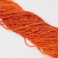 Cyrkonia kulka fasetowana pomarańczowa 2mm