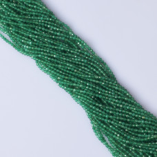 Onyks zielony kulka fasetowana 2.3mm
