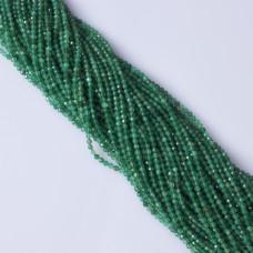Onyks zielony kulka fasetowana 3mm