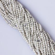 Howlit biały kulka fasetowana platerowana 4mm