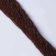 Granat brązowy syntetyczny kulka fasetowana 2.2mm