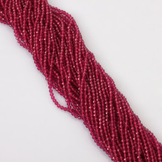 Rubin syntetyczny kulka fasetowana 3mm