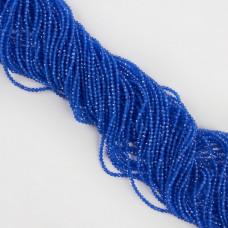 Kocie oko kulka fasetowana niebieska 1,9-2mm