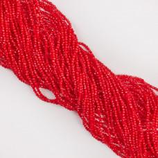 Kocie oko kulka fasetowana czerwona 1,8-2mm