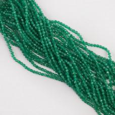 Kocie oko kulka fasetowana zielona 3-3,2mm