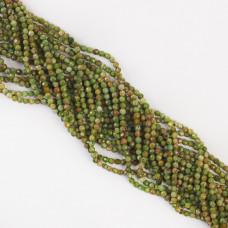 Zielony opal kulka fasetowana 3,3mm