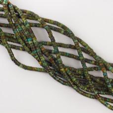 Jaspis krążek zielony 4x2mm