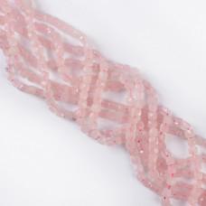 Kryształ górski różowy kostka fasetowana 5mm
