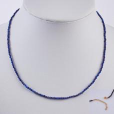 Naszyjnik z lapisu lazuli w stali chirurgicznej 45,5cm