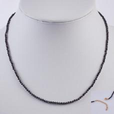 Naszyjnik ze spinelu w stali chirurgicznej 45,5cm