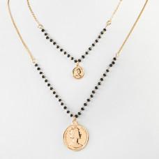 Naszyjnik z monetami dos persos złoty 45cm
