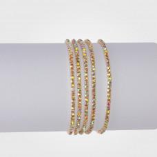 Bransoletka z kryształkami crystal AB 16-20cm