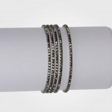 Bransoletka z kryształkami hematite 16-20cm