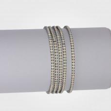Bransoletka z kryształkami black 16-20cm