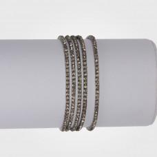 Bransoletka z kryształkami black diamond 16-20cm